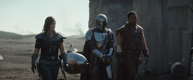Cara, Baby Yoda, Mando and Karga