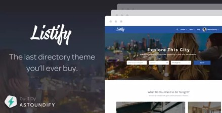 Migliori template per WordPress Listify