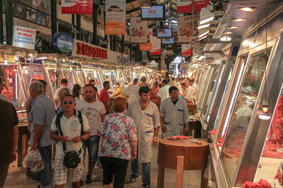 Athens meat market