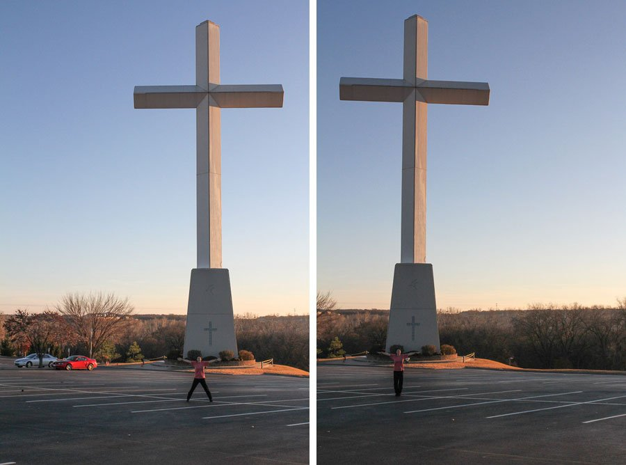 Giants on Route 66: Giant Cross in Arcadia
