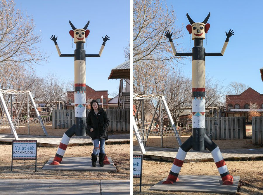 Giants on Route 66: Giant Kachinas