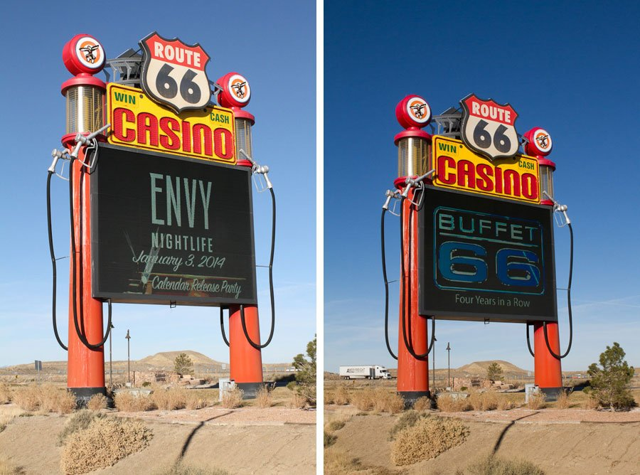 Giants along Route 66: Gas Pump Sign
