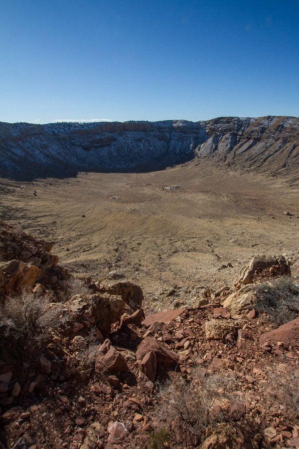 Meteor Crater in Arizona, USA
