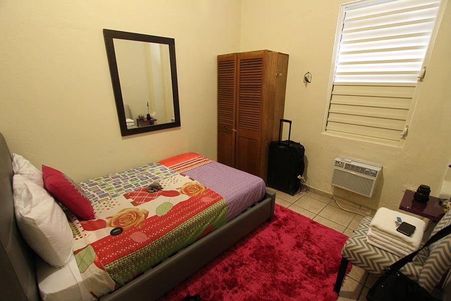 Our bedroom in San Juan.