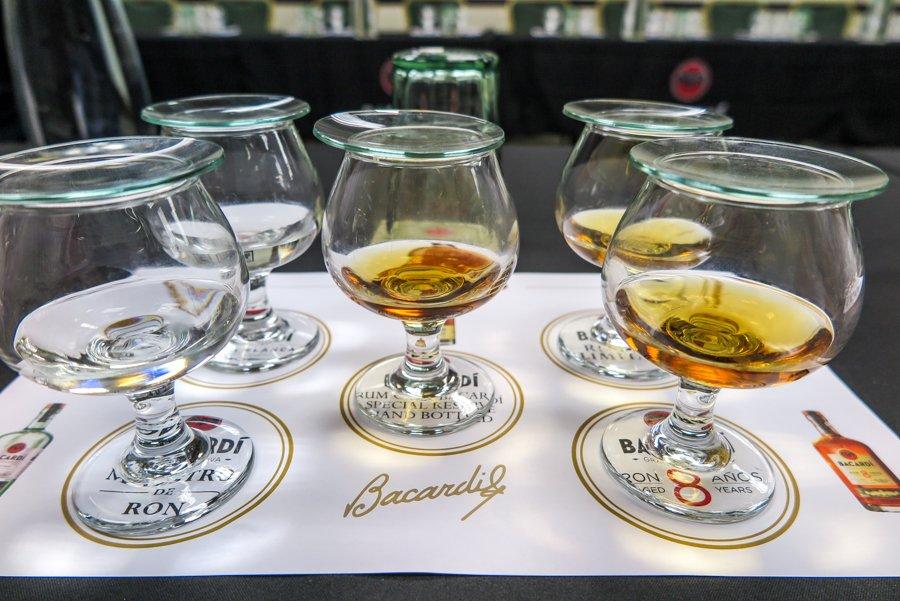 Rom tasting at the Casa Bacardi