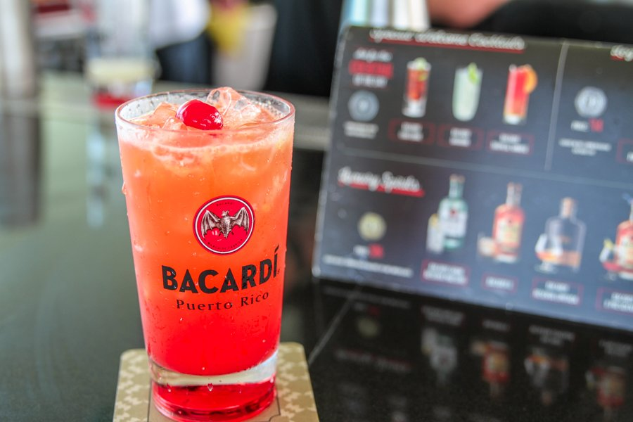 A drink at Casa Bacardi