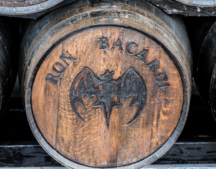 A Barrel of rom at Casa Bacardi