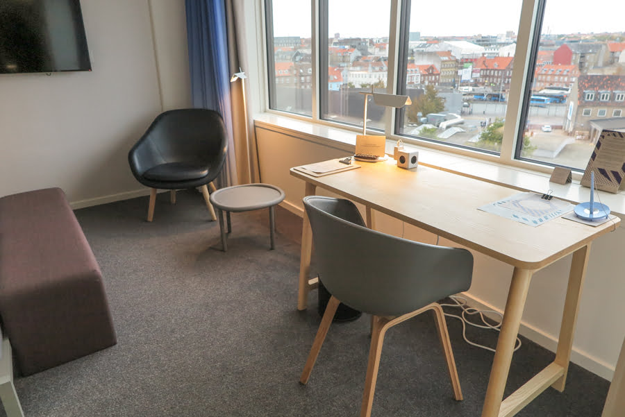 Hotel Room with a view in Aarhus, Denmark