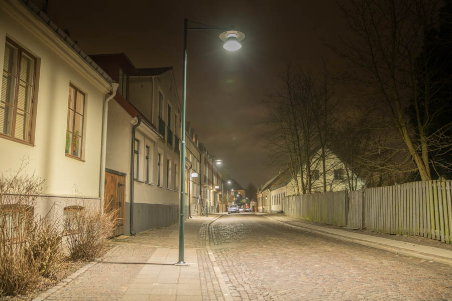 Streetlights in Lund