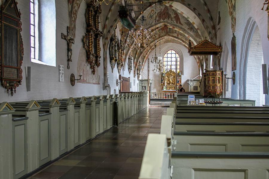 Maria church in Saeby, Denmark