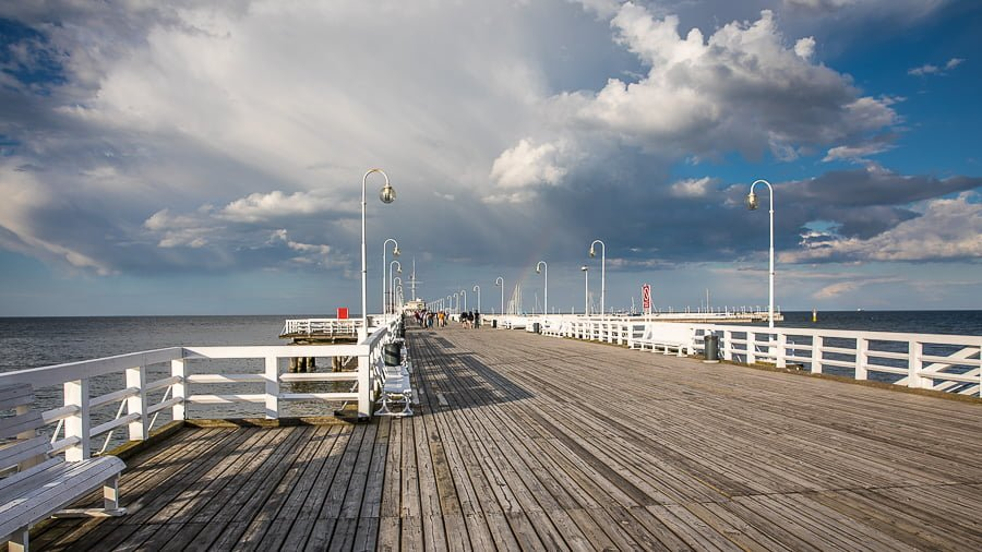 The beautiful Sopot Pier (Molo)