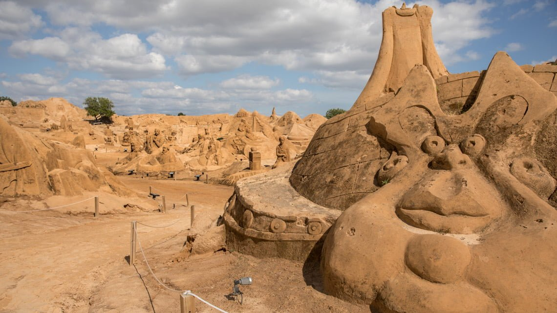 sand sculpture festival in Portugal.