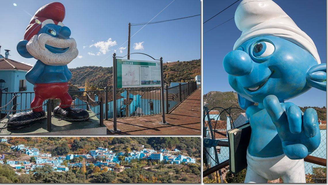 The smurf village in Juzcar, Spain