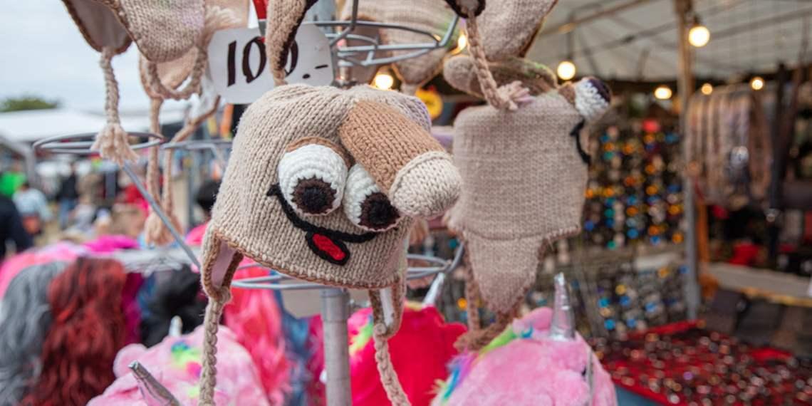 Langos at Sweden's lagest market