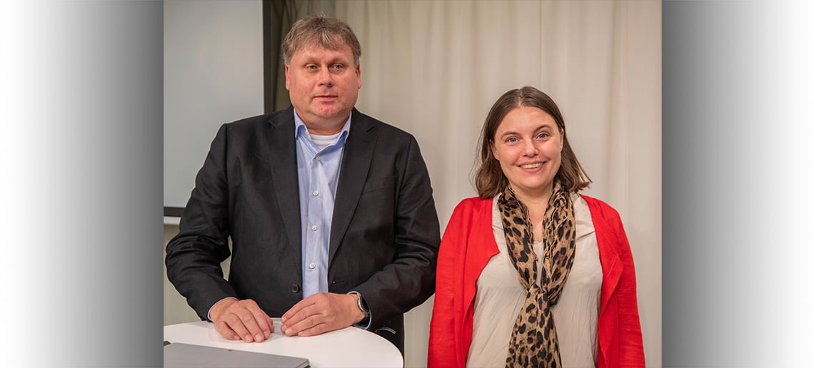 Roger Pettersson and Therese Lilliesköld