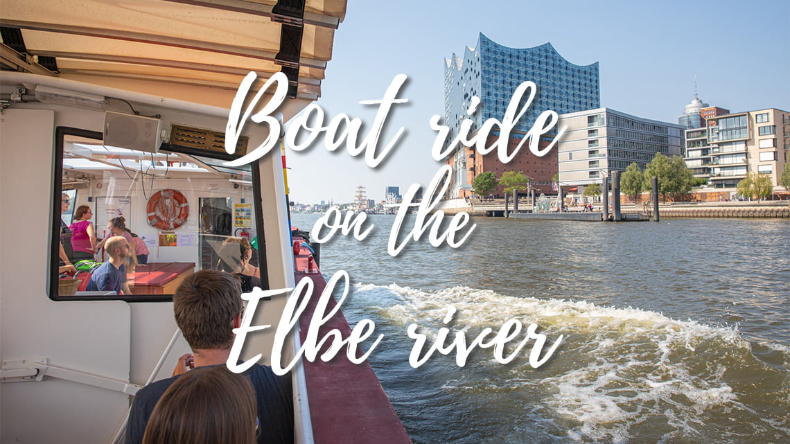 Boat ride on the Elbe river