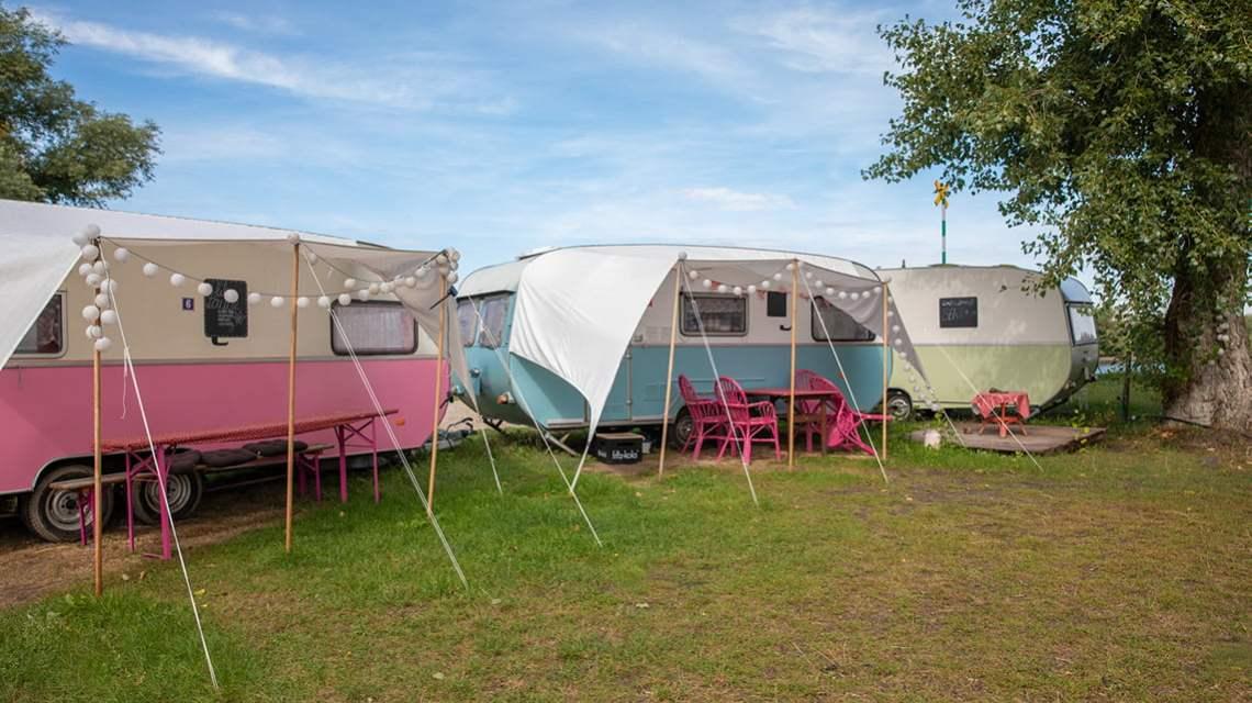 Glamping at stover strand camping