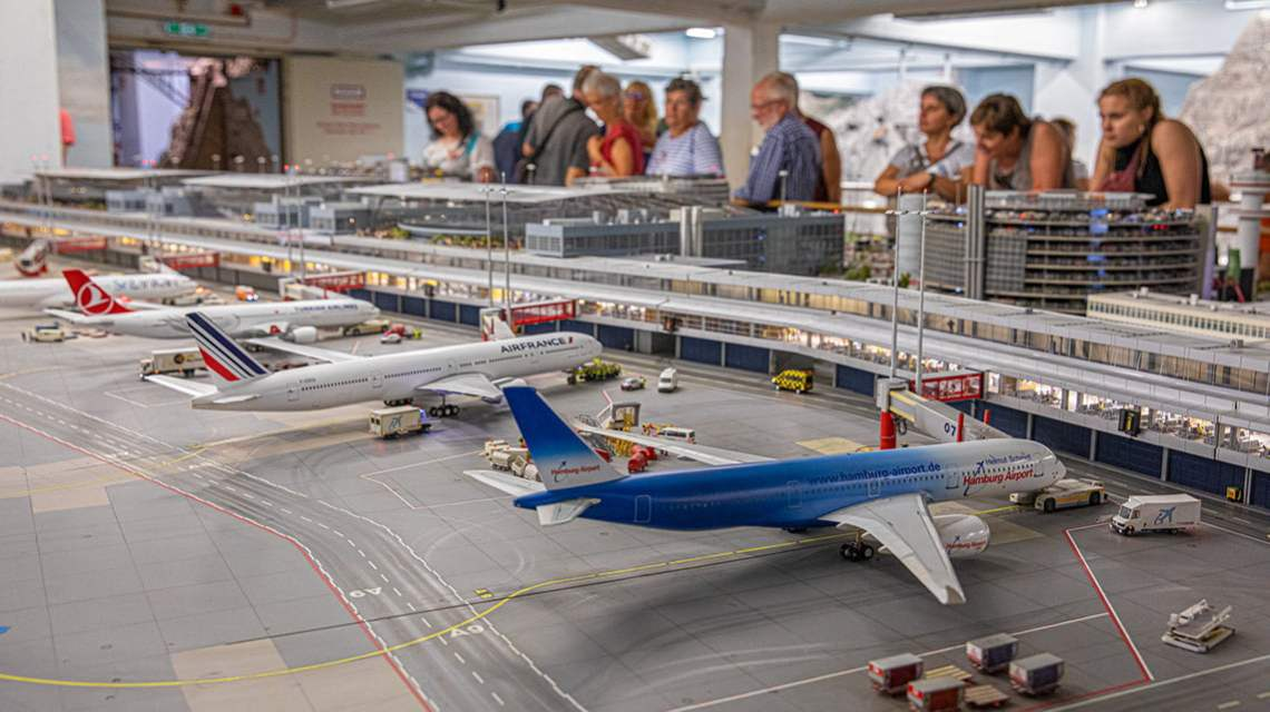 Knuffingen airport at the Miniatur Wunderland