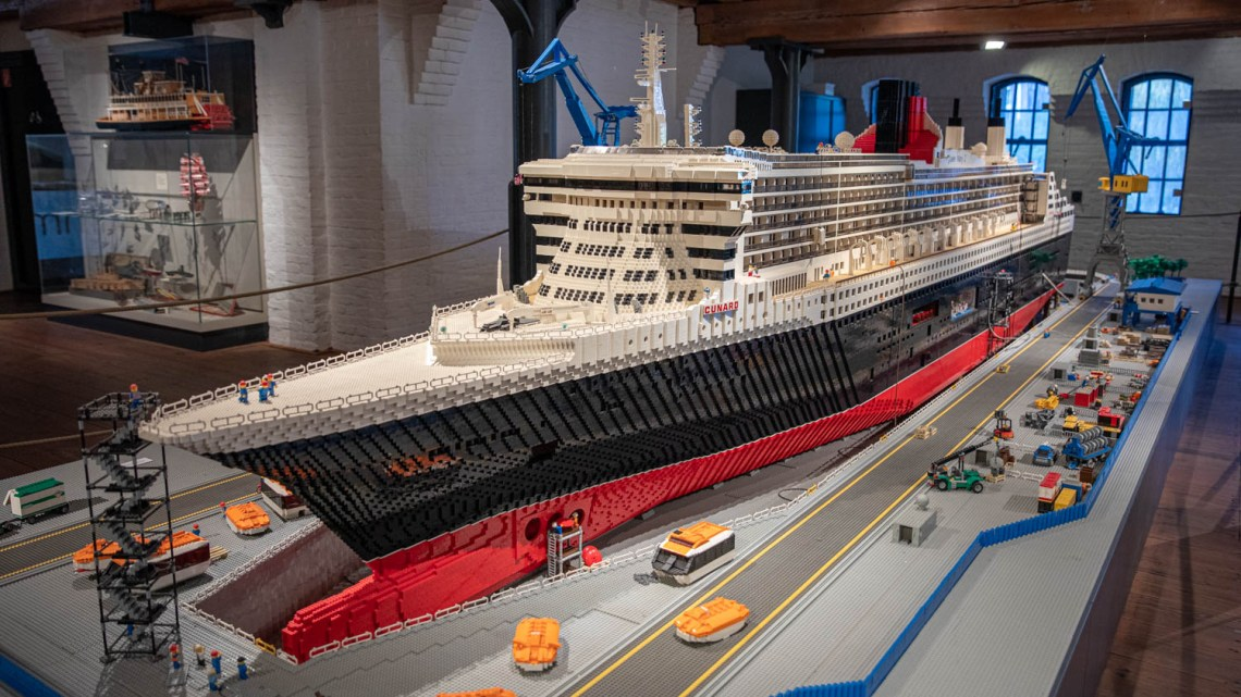 Queen Mary II made out of Lego
