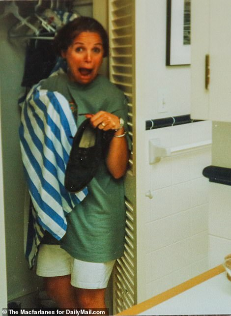 She shared photos of Couric going into Billy Joel's closet and smelling his shorts and posing with his belongings