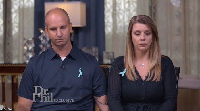 Jim (left) and Nichole Schmidt (right), appearing on Dr. Phil, revealed that Gabby Petito's remains were found in an area of dispersed campgrounds on the borderline of Bridger-Teton National Forest, about 40 feet away from where Grand Teton National Park begins