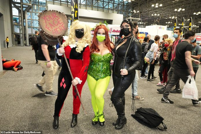 Several characters came dressed as Harley Quinn, who has featured in three different films in recent years