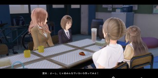 Blue Reflection girls have a chat