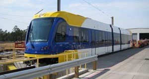 Sacramento, Calif.-based Siemens Inc. plans to deliver the first light-rail vehicle for use on the Central Corridor Light Rail Transit line in September. The vehicle is in final testing in California now. (Submitted photo)