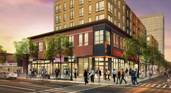 Opus Development Co. has proposed a new student apartment project with retail space in the heart of the Dinkytown commercial area in southeast Minneapolis near the University of Minnesota campus. (Submitted graphic: Opus Development Co.)