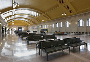 Parts of Union Depot, finished in 1923, were in good shape, but other sections needed drastic repair. (Staff photo: Bill Klotz)
