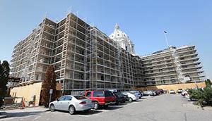 Gov. Mark Dayton's $986 million bonding recommendation, introduced Wednesday, includes $126.3 million to wrap up the multiyear Minnesota State Capitol restoration. (File photo: Bill Klotz)