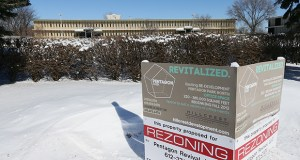The Pentagon Park building at 4620 W. 77th St. in Edina is among the 15 that would be razed under a redevelopment plan from Minneapolis-based Hillcrest Development. A new office building would likely rise on the site. (Staff photo: Bill Klotz)