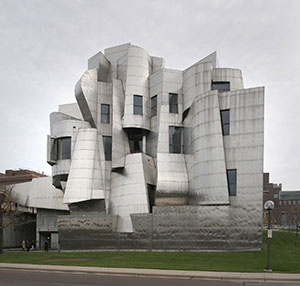 """Weisman Art Museum at the University of Minnesota, pictured, posed many more technical issues for MG McGrath, but they pale in comparison to the $60 million, 150,000-square-foot science center McGrath has been working on at the new Florida Polytechnic University in Lakeland. The science center's clam-like oval design features 94 """"arms"""" that open and close above the building's roof to create daylighting and shading. (File photo: Bill Klotz)"""