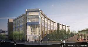 A rendering shows the proposed Senate office building to be built next to the Capitol in St. Paul. (AP photo: Administration Department via St. Paul Pioneer Press)