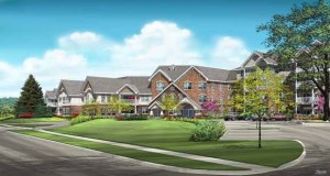 This rendering from Bloomington-based United Properties shows the design for its 77-unit Applewood Pointe of Bloomington at Valley West. The senior cooperative building is set for construction on a site carved from the Mount Hope Lutheran Church campus at 3601 W. Old Shakopee Road. (Submitted photo: United Properties)
