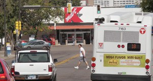 "The Kmart site at 10 W. Lake St. in Minneapolis has long been a target for redevelopment, but it's one of the retailer's"" stronger performing stores"" in the nation. The city is in talks to buy the site so that it can reconnect Nicollet Avenue from Lake Street to 29th Street. (File photo: Bill Klotz)"
