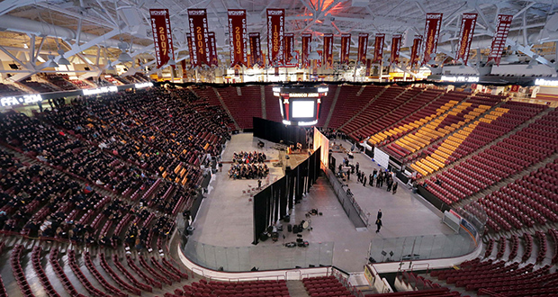 The State Future Farmers of America Convention was held Tuesday at the University of Minnesota's Mariucci Arena. The U of M is considering an $8 million partial remodel of the 21-year-old arena at 1901 Fourth St. SE in Minneapolis. (Staff photo: Bill Klotz)