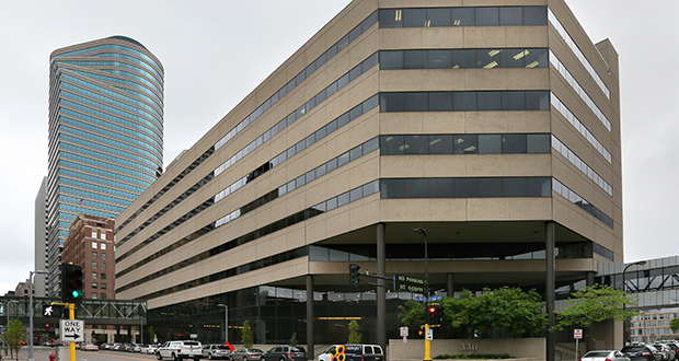 The city of Minneapolis has 30 people working in the 9,100 square feet that it leases in the Towle Building at 330 Second Ave. S. That lease expires Dec. 31, and Minneapolis is in the process of finding a broker who can help consolidate workers into fewer buildings. (Staff photo: Bill Klotz)