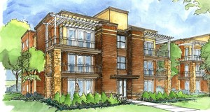 Oppidan Investment Co.'s 33-unit Wooddale Flats condos are expected to be ready for occupancy next January at 3946 Wooddale Ave. S. in St. Louis Park. (Submitted rendering)