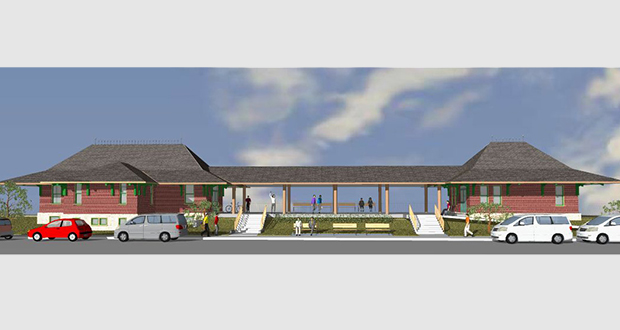 """The preservation group Save the Northfield Depot says the 1889 depot (left) would complement the transit hub (right) that the city is considering for the """"Q Block"""" west of Highway 3 between West Second and West Third streets. (Submitted rendering: Save the Northfield Depot)"""