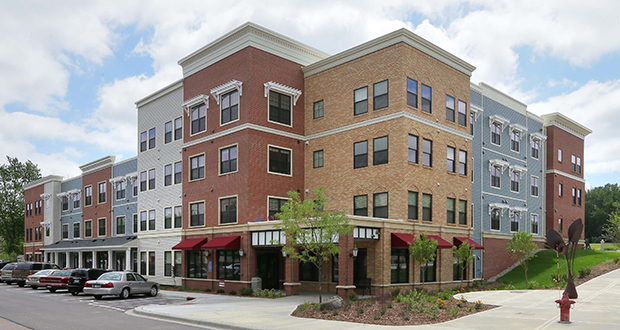 Minneapolis-based Aeon held a grand opening Tuesday for a 54-unit affordable senior housing development at Highway 41 and First Street in Chaska. The project leaned heavily on HUD Section 202 funding, which is no longer available. (Staff photo: Bill Klotz)