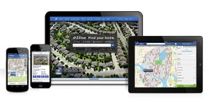 This product image provided by real estate website operator Zillow shows the Zillow app on various mobile platforms. Zillow is buying competitor Trulia in a $3.5 billion all-stock deal. (AP Photo/Zillow)