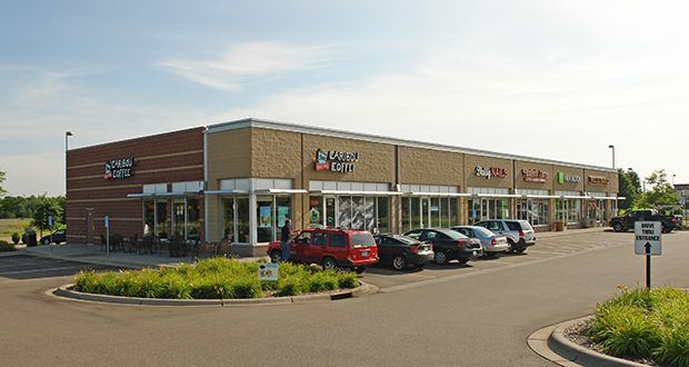 A private investor in North Oaks has paid $2.67 million for this a 9,547-square-foot multi-tenant retail building 1966 Bunker Lake Blvd. NW in Andover. (Submitted photo: CoStar)