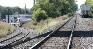 Rail lines near Oxford Street in St. Louis Park. The LRTwill run along a rail corridor between Minneapolis and Eden Prairie. (File photo:Bill Klotz)