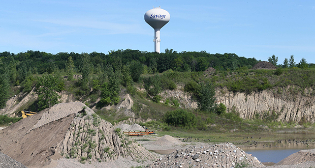 The city of Savage plans to use tax increment financing for residential development at the Prior Lake Aggregates site on the northwest corner of County Road 44 and County Road 27. (Staff photo: Bill Klotz)
