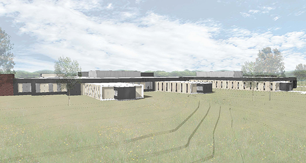 The Minnesota Department of Human Services plans to break ground in September on this new security hospital in St. Peter, which is designed to improve safety and security. (Submitted rendering: BWBR)