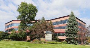 Golden Valley-based M.A. Mortenson Co. has purchased the Wirth Corporate Center at 4150 Olson Memorial Highway. The property could serve as a future expansion site for the company's campus just to the east. (Staff photo: Bill Klotz)
