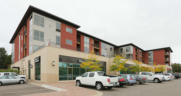 The Edina Gateway building, at 4900 77th St. W., opened as condominiums in 2008 but was later converted to apartments. The building is now fully leased. (Staff photo: Bill Klotz)