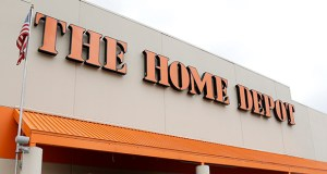 """Home Depot says it's working with banks and law enforcement after """"unusual activity"""" aroused suspicions of a credit card data breach. This photo shows a Home Depot store in Nashville, Tennessee. (AP file photo)"""
