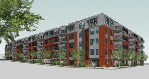 St. Paul planners say tax increment financing is needed for the 113-unit Dominium senior affordable housing complex at East Seventh Street and Bates Avenue because the below-market rents don't cover the cost of construction. (Submitted rendering: Dominium)